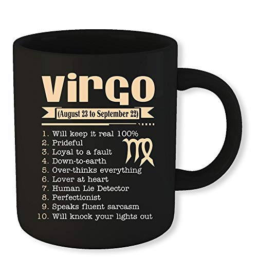 - Virgo Zodiac Coffee Mug 10 Things About Virgo Funny Novelty Gift 11 Oz Coffee Mug Gift For Men Women