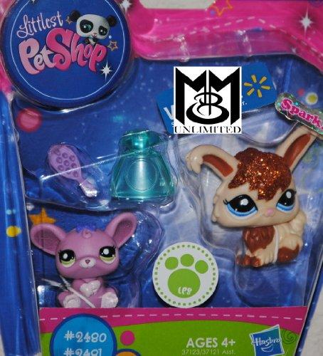 (Littlest Pet Shop Exclusive Figure 2Pack Angora Bunny Rat)