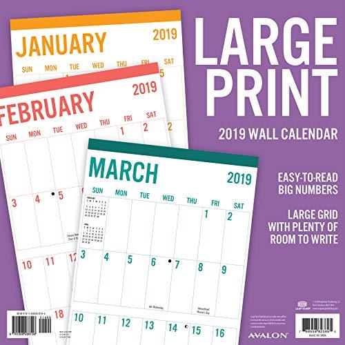 Avalon 2019 Wall Calendar, Large Print-Basic, 12 x 12 inches (82389) by Avalon (Image #3)