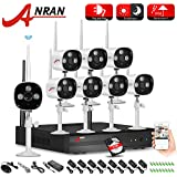 ANRAN 8 Channel 720P Security Camera System Wireless Outdoor Camera Security System with 8pcs Night Vision 720P Megapixel HD WIFI IR IP Cameras with 2TB HDD