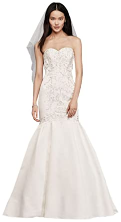 Davids bridal trumpet wedding dress with lace bodice style wg3810 davids bridal trumpet wedding dress with lace bodice style wg3810 ivory junglespirit Choice Image