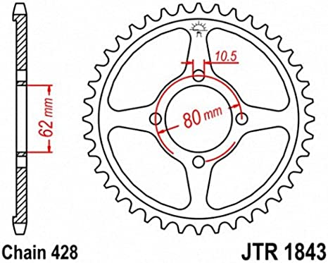 JT Sprockets JTR1843.54 54T Steel Rear Sprocket