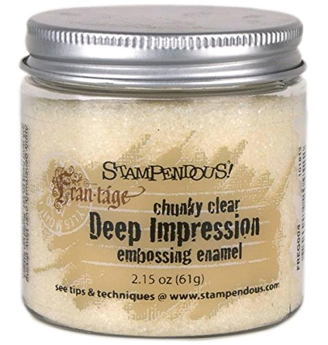 STAMPENDOUS Deep Impression Chunky Clear Embossing Powder, Large