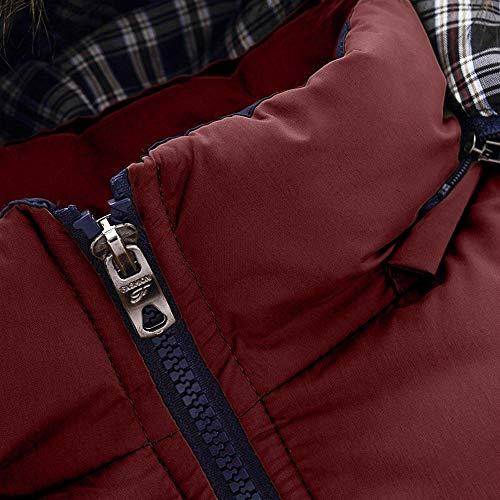 En Plus Épais Capuche Hiver Osyard Stand Manteau À Hommes Rouge Veste Chaud Doudoune Coton Zipper 88HqvOw1P