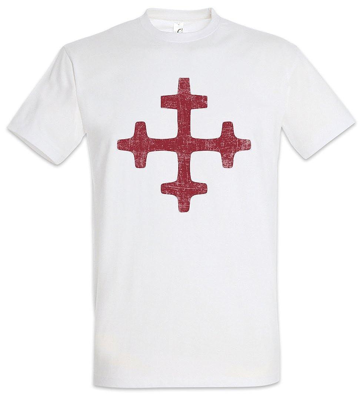 T SHIRT RED PENTAGRAM SIGN Shirts & Hemden Pentagramm