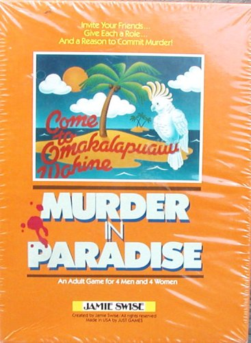 Murder Mystery Party Kit from 1982 - Murder in Paradise by Jamie - Prices International Priority Mail