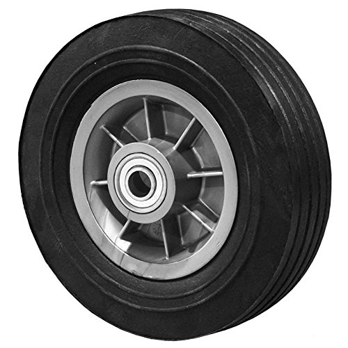 "8 Inch Flat Free Hand Truck Tire - Wheel 8"" x 2.5"" - 2.5"" Centered Hub - 3/4"" Axle Bore - 450 lb"