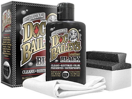 Doc Bailey's Leather Detail Kit Black - Restore Your Black Leather & Vinyl With This Leather Cleaning Product - Condition, Clean, Waterproof & Re-Dye - Maintain & Protect All of - Boot Leather Forum
