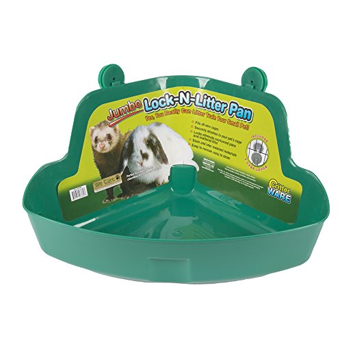 Ware Manufacturing Plastic Lock-N-Litter Bigger Pan for Small Pets, Jumbo - Colors May Vary - Depth Slide