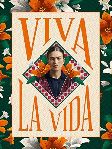 Grupo Erik Print Frida Kahlo Viva la Vida, Multicolor, 30x40 ...