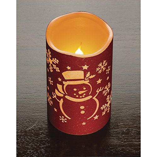 Holiday Snowman Flameless LED Candle
