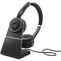 Jabra Evolve 75 On-Ear Bluetooth Headphones + Charging Stand