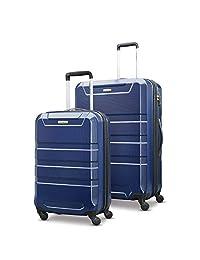 Samsonite Invoke 2-Piece Nested Hardside Luggage Set (Spinner 19/Spinner 28), Navy, Checked – Large ( Model: 104097-1596 )