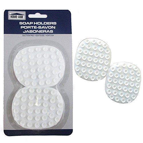 2 Pc Soap Saver Holder Suction Pads Soap Dish Bathtub Laundry Kitchen Tools New