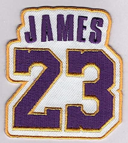 size 40 01789 c60a9 LeBron James No. 23 Patch - Jersey Number Basketball Sew or Iron-On  Embroidered Patch 2 1/2 x 2 3/4