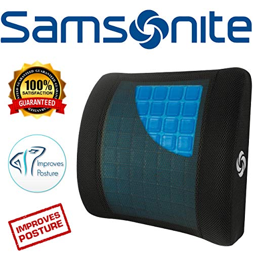 Samsonite SA6086 - Lumbar Support Pillow with Mild Cooling Gel [Cooling effect is subjective, and varies by personal sensitivity] - Helps Relieve Lower Back Pain - Premium Memory Foam by Samsonite (Image #7)