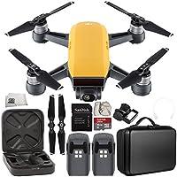 DJI Spark Portable Mini Drone Quadcopter Essential Portable Bag Shoulder Travel Case Bundle (Sunrise Yellow)