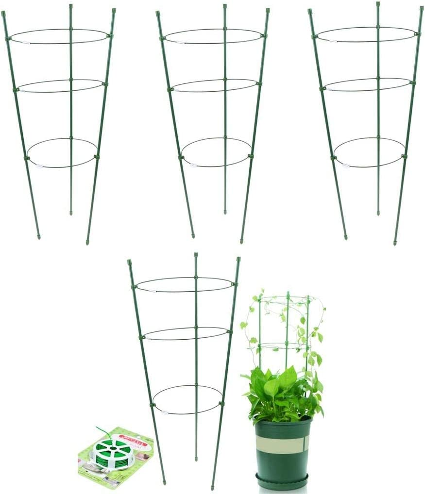 """Garden Climber Shelf Flower Racks Climbing Vines Rack Cucumbers Trellis Plants Stand Trellises Cages&Supports&20 Meters Gardening Rope Roses Vegetables Pots Support Frame Tomato Cage Stake,17 18/25"""""""