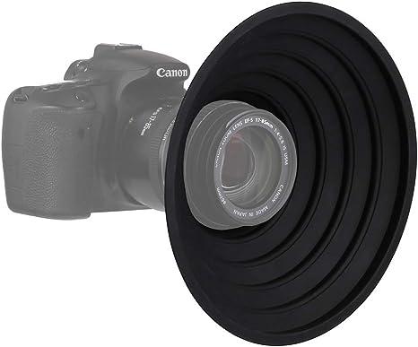 Easy to Install and Remove L gazechimp Camera Lens Cover Hood Anti-Glass Camera Lens Cover Digital Lens Hood Anti-Reflective Silicone Photos Hood