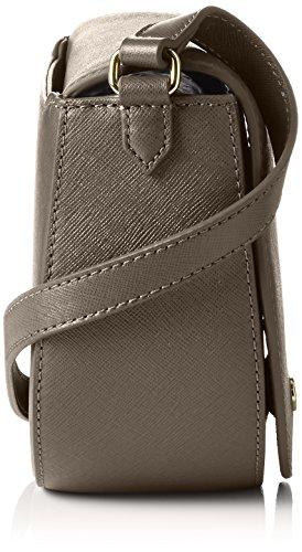 ECCO Ecco Iola Small Saddle Bag - bolso de bandolera Mujer Gris (Grau (90319)