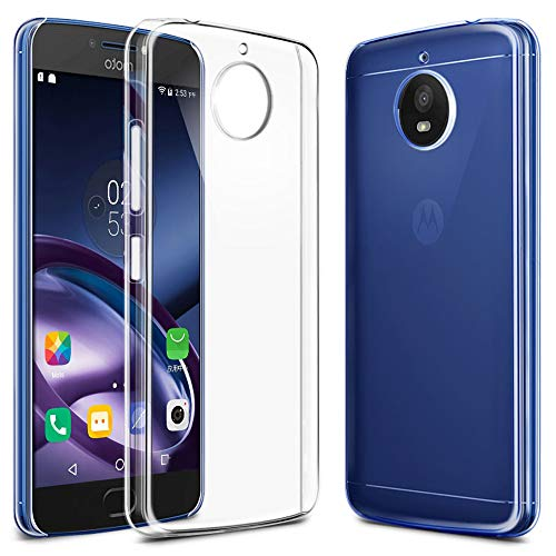 Moto G5S Plus Case, EGALO Ultra [Slim Thin] Flexible TPU Gel Rubber Soft Skin Silicone Protective Case Cover for Motorola Moto G5S Plus (Clear)