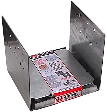 Simpson Strong Tie ABU88Z ZMAX Galvanized 14-Gauge 8x8 Adjustable Post Base  4-per Box