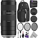 Tamron 70-210mm f/4 Di VC USD Lens for CANON EF w/Advanced Photo and Travel Bundle