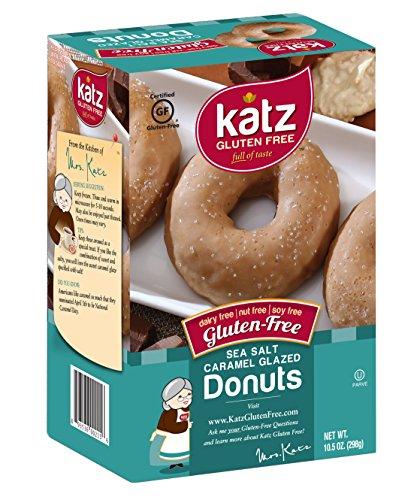 Katz, Gluten Free Sea Salt Caramel Donuts, 10.5 Ounce, (6 Pack)