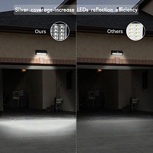 Driveway Night Lights: Solar Silvering Motion Sensor Lights, 62 LED Solar