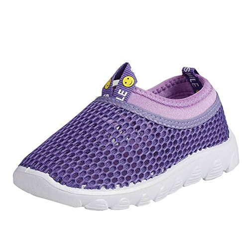 CIOR Kids Aqua Shoes Breathable Slip-On Sneakers For Running Pool Beach Toddler/Little Kid/Big Kid,1106purple,23 0