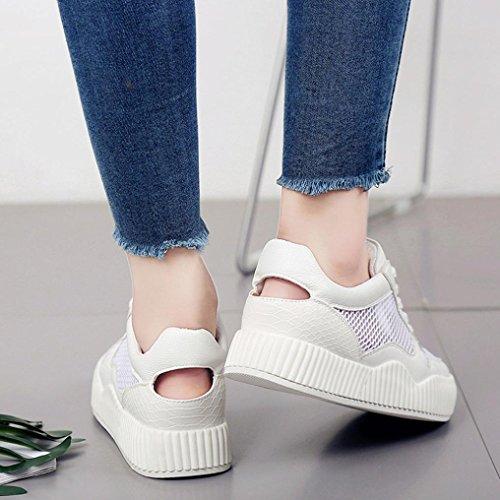 Bianca Sneaker Suole Sneaker Nastri Scarpe Scarpe Confortevole Casuale SamMoSon Donna Cavo Casuale Scarpe Scarpe a6xwO
