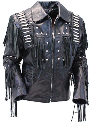 Leather Fringed Shirt Jacket - 3
