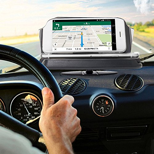 Windyus Car Head Up Display,HUD Phone GPS Navigation Image Reflector,Cell Phone Holder Mount Cradle Bracket ,Universal Smart Mobile Cell Phone Holder Mount Projector-6 Inch (6 Projection Iphone)