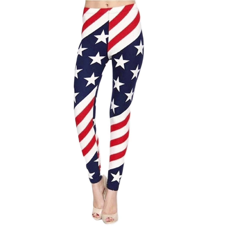 cf44b098eb982 Amazon.com : Litetao Yoga Pants, Women American Flag Paige Elastic Force  Leisure Trousers Sexy Leggings : Sports & Outdoors