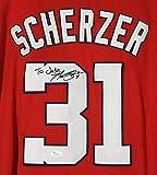 Max Scherzer Washington Nationals Signed Autographed Red #31 Jersey JSA COA
