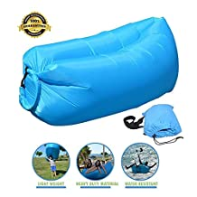 Outdoor Inflatable Lounger, ZONV Air Sofa Couch, Lazy Sleeping Sofa, Comfortable Waterproof Compression Sacks - Hangout Bean Bag for Camping Beach Hiking Picnic