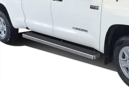 APS iBoard Black Running Boards Style Custom Fit 2007-2020 Toyota Tundra CrewMax Pickup 4-Door Nerf Bars Side Steps 6in Wide Aluminum