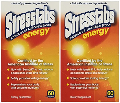 Stresstabs Energy Tablets 60 Ea(2 Pack) (Best Vitamins For Energy And Stress)
