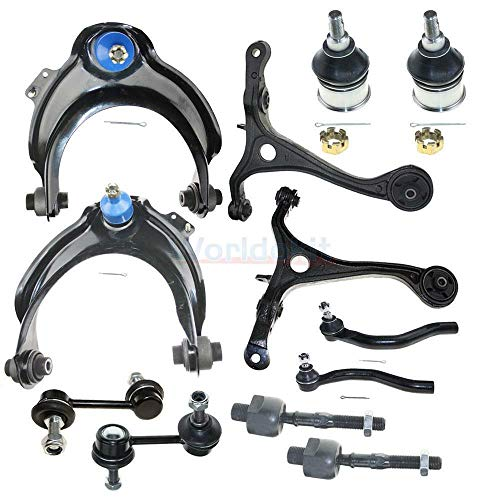 Machine Supplies 12pc Front Suspension Steering Kit Compatible for Honda Accord 2.4L 2003-2007 ()