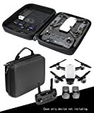Protective and Carrying Case for DJI Spark Mini Quadcopter Drone, all in one solution with slots for 2 batteries, controller, charger and propellers, Pocket for iPad or propeller guard (Black)