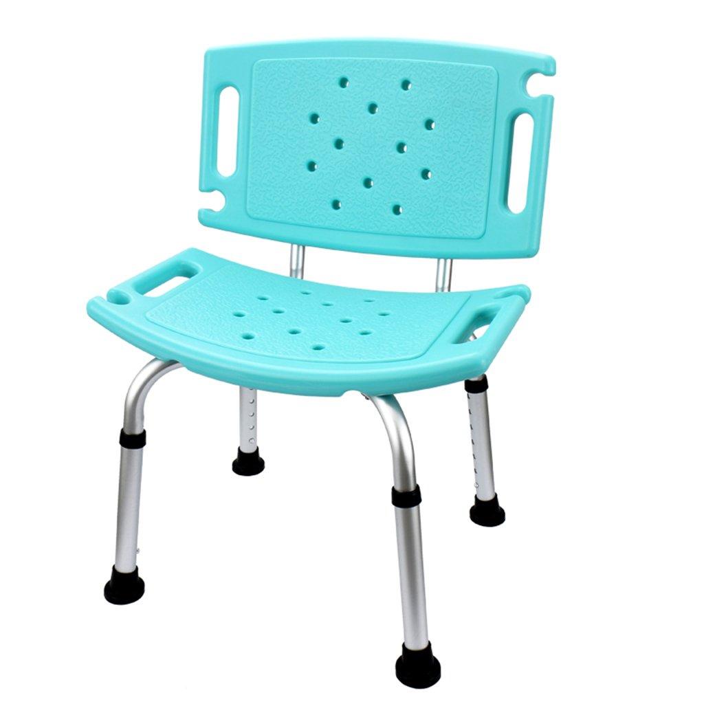 GRJH® シャワーチェア、ノンスリップ高さ調節可能なバスルーム老人妊婦バスチェアグリーン 防水,環境の快適さ B07997195Z