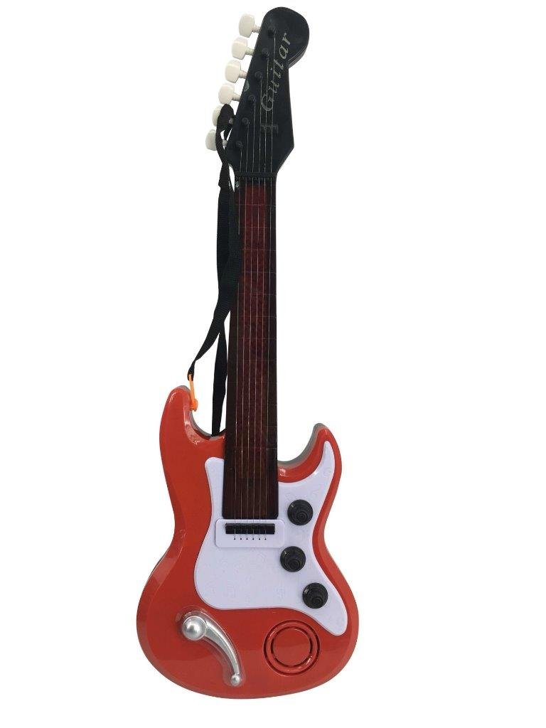 Lightahead Electronic Toy Guitar with Sound and Lights Electric Guitar With Preset Music And Vibrant Sounds Fun Musical Toy for Kids Baby Toddlers Children