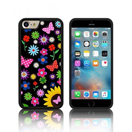 Coque ' des papillons florales ' Étui Housse Apple iPHONE 7 en silicone TPU