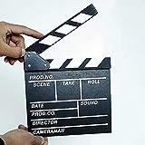Jullynice Madeira 20x20x1,5 cm Diretor de cenário de vídeo Quadro de palmas para filmes de TV Aula Profissional Filme Adereço de corte ardósia