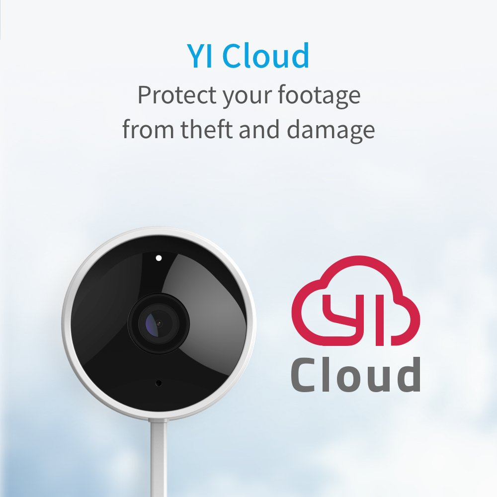 YI Outdoor Security Camera, 1080P 2.4G Wireless IP Waterproof Night Vision Surveillance System with 24/7 Emergency Response, Motion Detection, Activity Alert, Deterrent Alarm - iOS, Android App by YI