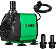 VIVOSUN 800GPH Submersible Pump(3000L/H, 24W), Ultra Quiet Water Pump with 10ft High Lift, Fountain Pump with