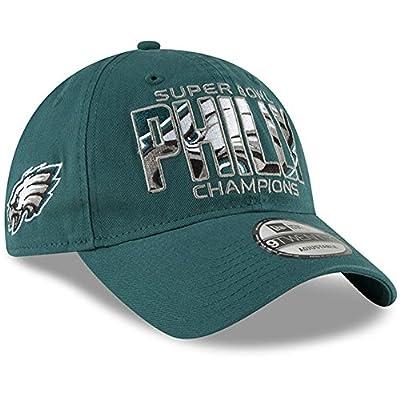 New Era Authentic Philadelphia Eagles Super Bowl LII Champions in-Between Midnight Green 9TWENTY Adjustable Hat - Adjustable