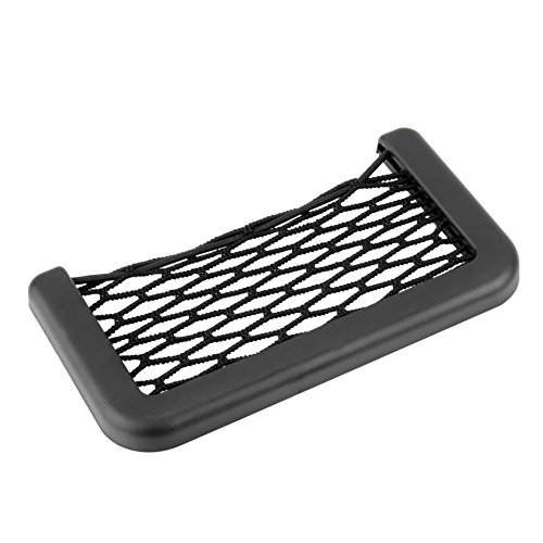 Feketeuki Car Net Bag Car Organizer Nets 15X8cm Automotive Pockets With Adhesive Visor Car Bag Storage For Tools Mobile Phone