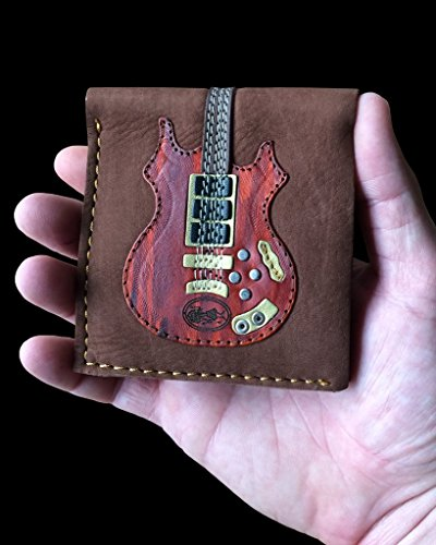Grateful Dead – Jerry Garcia – Dead Head Rosebud Guitar Wallet – Handmade from Genuine Leather