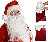 Deluxe Santa Wig and Beard Santa Beard and Wig Set Santas Beard